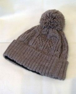 Cable Lined Alpaca Hat
