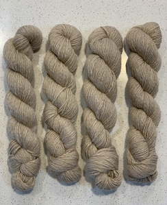 Photo of Soft beige/cream colored yarn