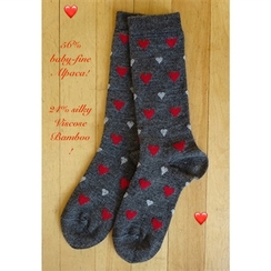 Photo of SOCKS: VALENTINES baby-fine alpaca