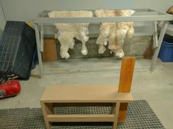 Hides are tumbled then softened by hand