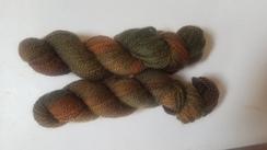 Hand-dyed 100% alpaca yarn