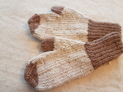 Alpaca Toddler Mittens