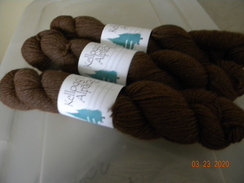 Rich Brown Alpaca Yarn