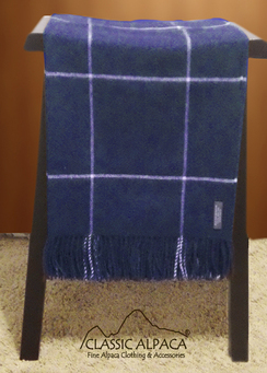 Woven & Brushed Plaid Baby Alpaca Throw