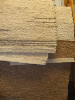 Alpaca rugs hand woven with our alpacas