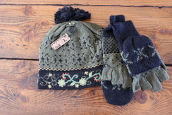 Fern Alpaca Hat and Mitten set