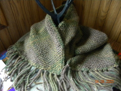 Photo of Green Hand Woven Scarf