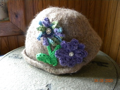 Photo of Fawn colored felted hat
