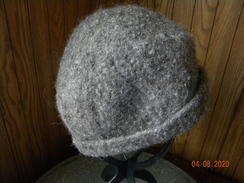 Photo of Grey felted alpaca hat