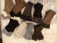 Photo of Hand Knit Fingerless Gloves/Gauntlet
