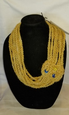 Photo of Crocheted Necklace Scarf