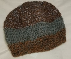 Slate & Brown Slouch Hat
