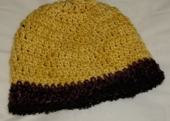 Yellow Beanie with Brim