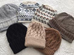 Knit Alpaca Hats