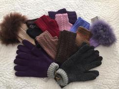 Knit alpaca gloves and mittens