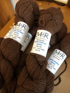 Alpaca Yarn Dark Brown Duke