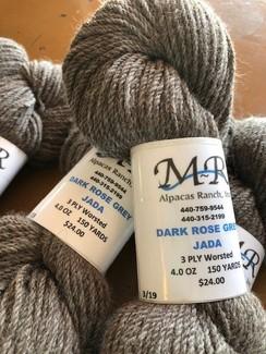 Alpaca Yarn Dark Rose Grey Jada