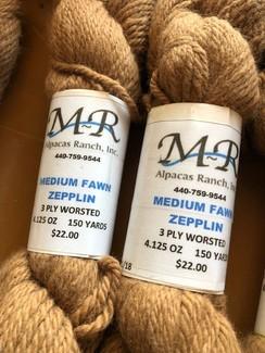Alpaca Yarn Medium Fawn Zepplin