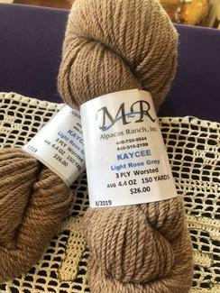 Alpaca Yarn Light Rose Grey Kaycee