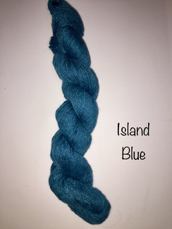 Photo of 100% Suri Yarn Hand Dyed Island Blue