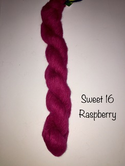 100% Suri Yarn Hand Dyed Raspberry