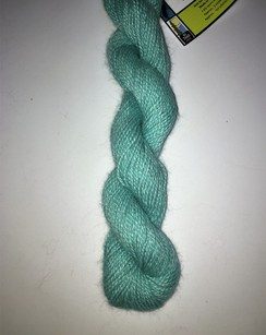 100% Suri Yarn Hand Dyed Sea Turquoise