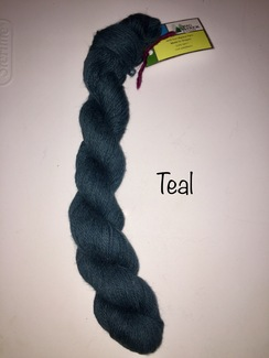 100% Suri Yarn Hand Dyed Teal