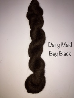 100% Suri Yarn Natural Black Dairy Maid