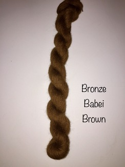 100% Suri Yarn Natural Babei Brown
