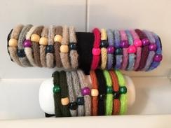 Felted alpaca yarn bracelets