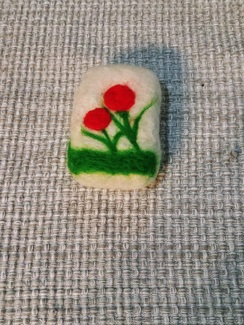 Photo of Almond Coconut Felted Soap