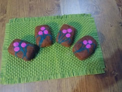 Photo of French Vanilla Biscotti Felted Soap