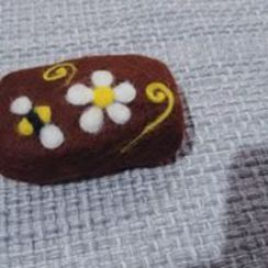 Photo of Needle Felting on Felted Soap