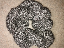 Yarn- Suri Alpaca- Black/White/Red