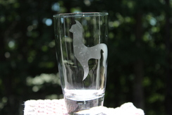 Alpaca w/cria glass