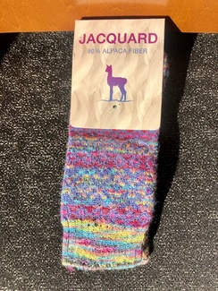 Socks- Alpaca Jacquard Sock- Multi Color