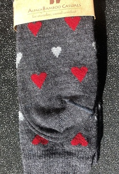 Photo of Socks- Alpaca Bamboo Socks with Hearts
