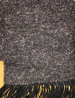 Scarf- Suri Alpaca- Black Confetti