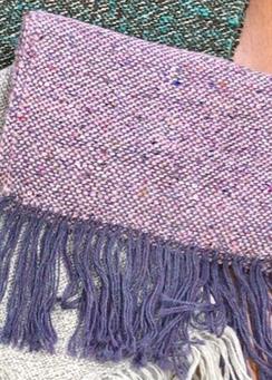 Scarf- Suri Alpaca- Silk- Pink & Purple