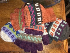 Photo of Gloves- Alpaca Glittens- Patterned