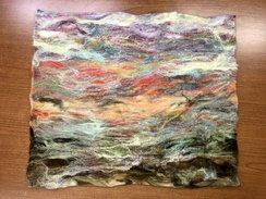 Wall Hanging- Needle Felted- Landscape