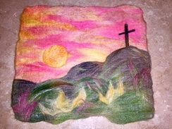 Wall Hanging- Needle Felted- Go Tell It!