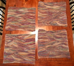 Placemats- Wet Felted- Set of Four