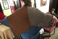 7 Diamond Shawl in Natural Fibers
