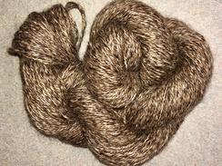 Photo of Yarn- Suri Alpaca- Blk/Brown Tweed