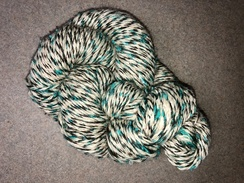 Photo of Yarn- Suri Alpaca-Cream/Brn/Teal Reverse
