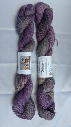Suri DK wt hand dyed yarn