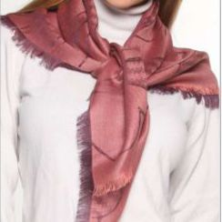 Alpaca/silk scarf