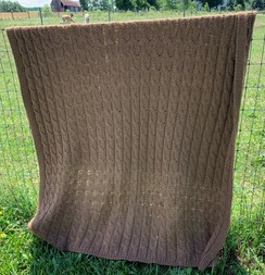 Big Cable Alpaca Blanket
