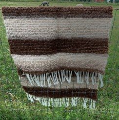Handwoven Alpaca Rug- Bold Stripes